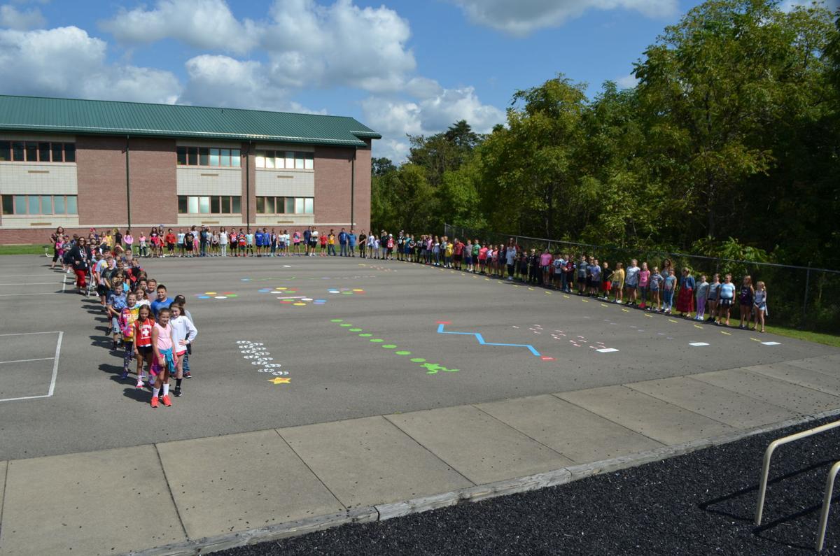 "Waynesburg Elementary students ""Jump and Move"""