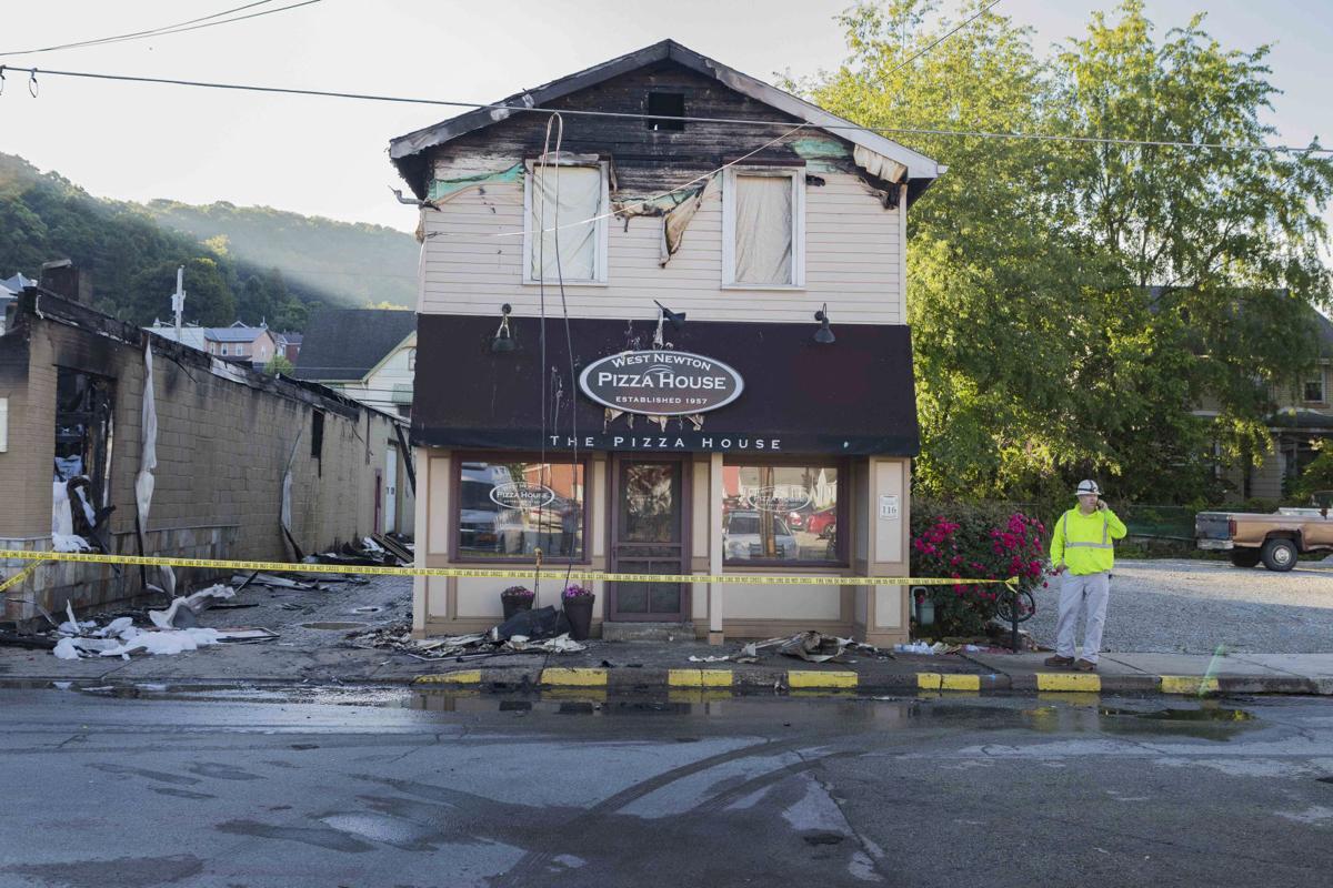West Newton Fire Destroys Antique Car Shop, Damages Pizza