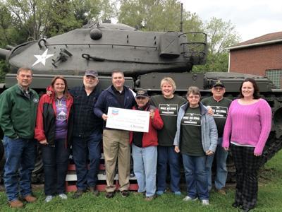 Chevron gifts $3500 for veteran's memorial park