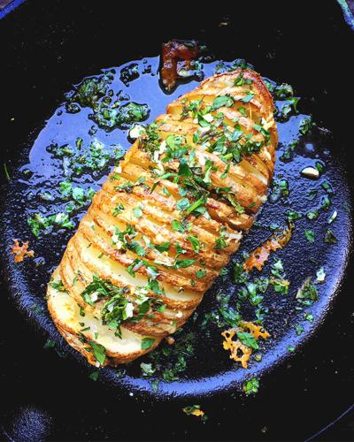 Herb and Cheesy Hasselback Potatoes