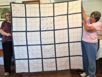Carmichaels Area Historical Society memorial quilt