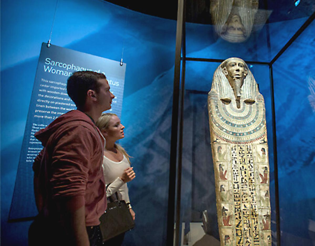 Mummies on display at the Carnegie Science Center