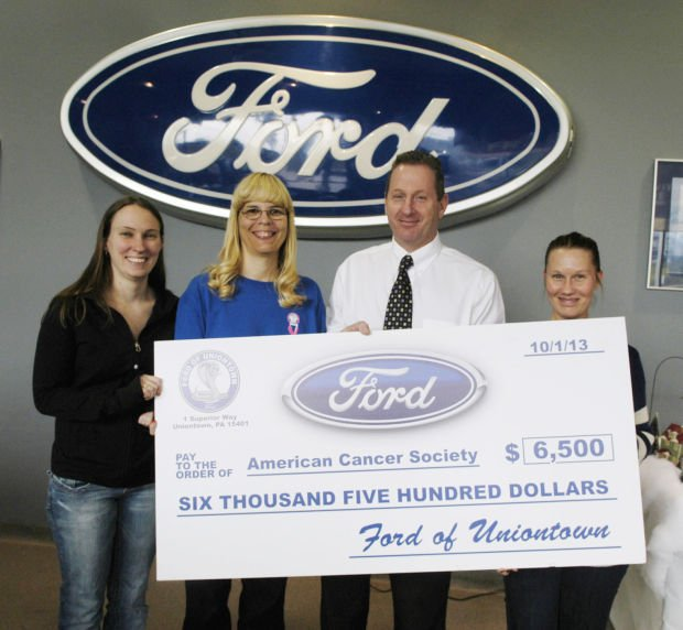 Ford Of Uniontown >> Ford Of Uniontown Donation Made To Fayette Relay For Life