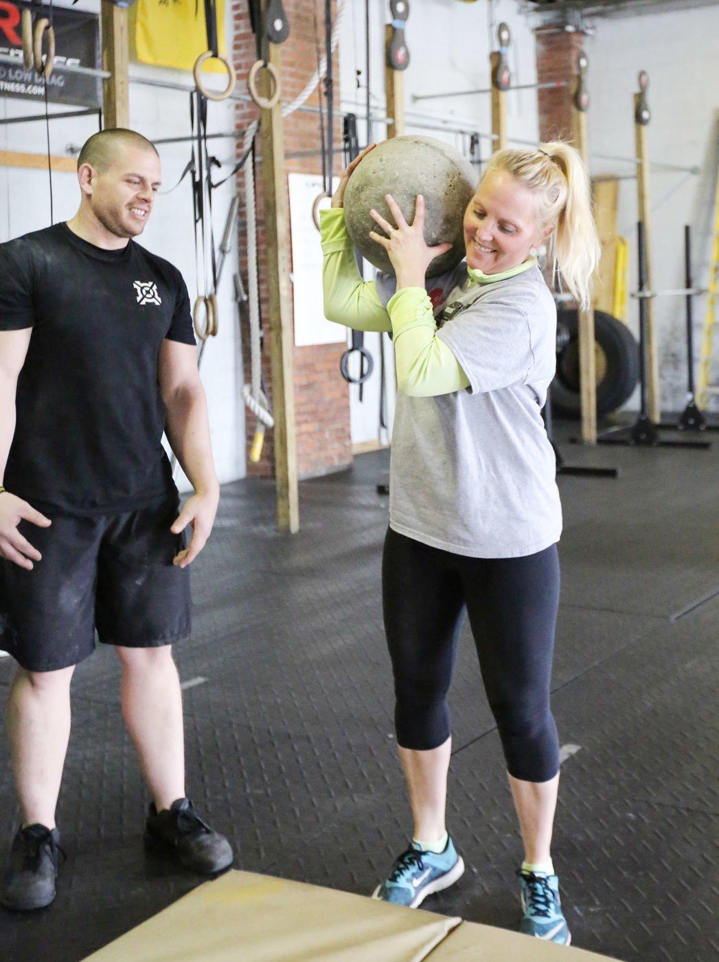 Get Fit competitors get taste of Strongman stones | Get Fit