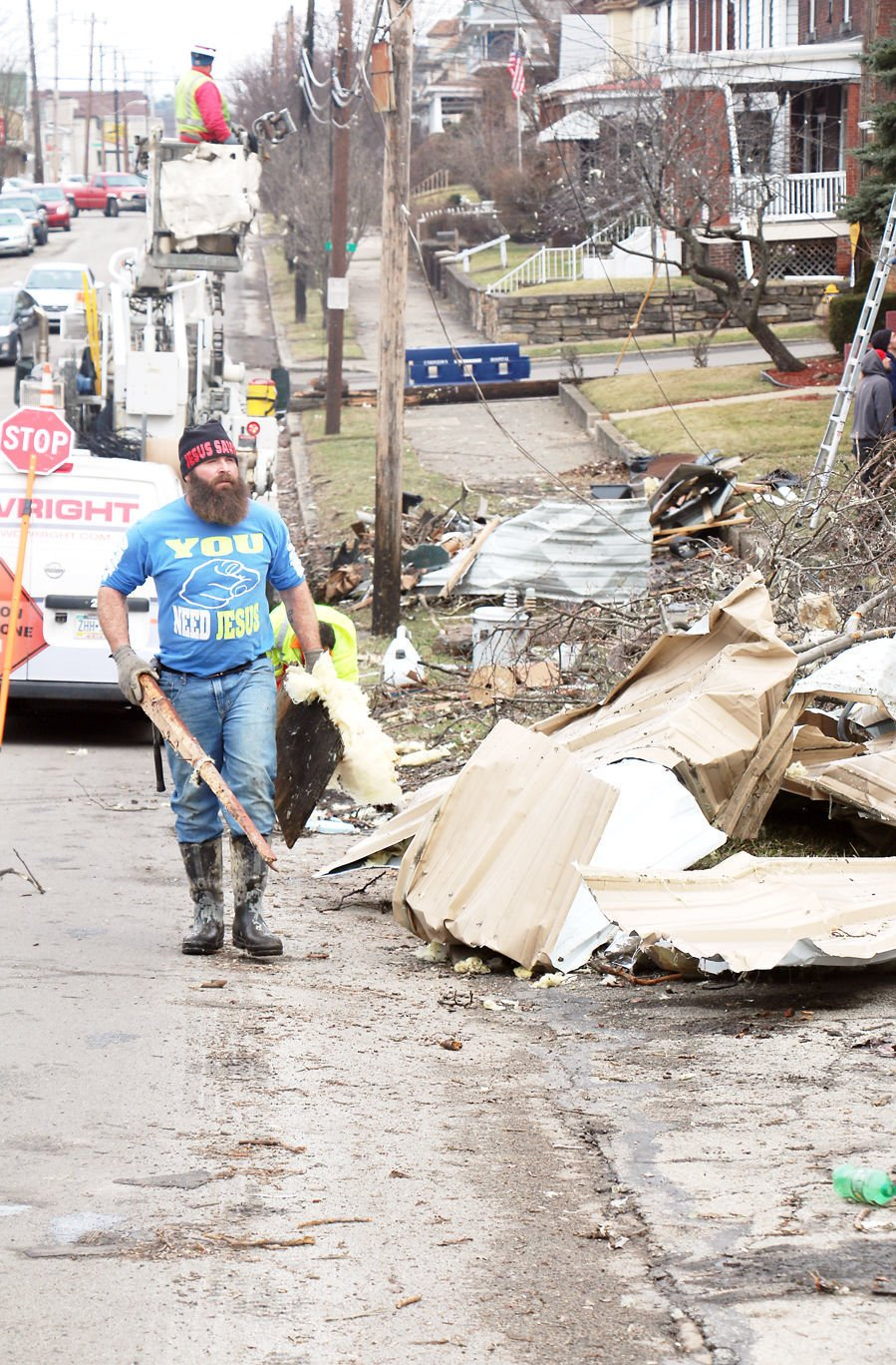 Uniontown Neighborhood Working To Clean Up After Tornado Rips Through Area Thursday