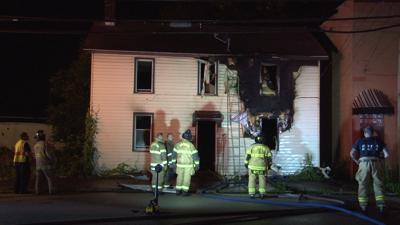 Firefighters battle blaze in Uniontown