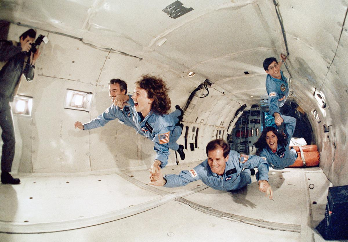 Cenker trains with other astronauts
