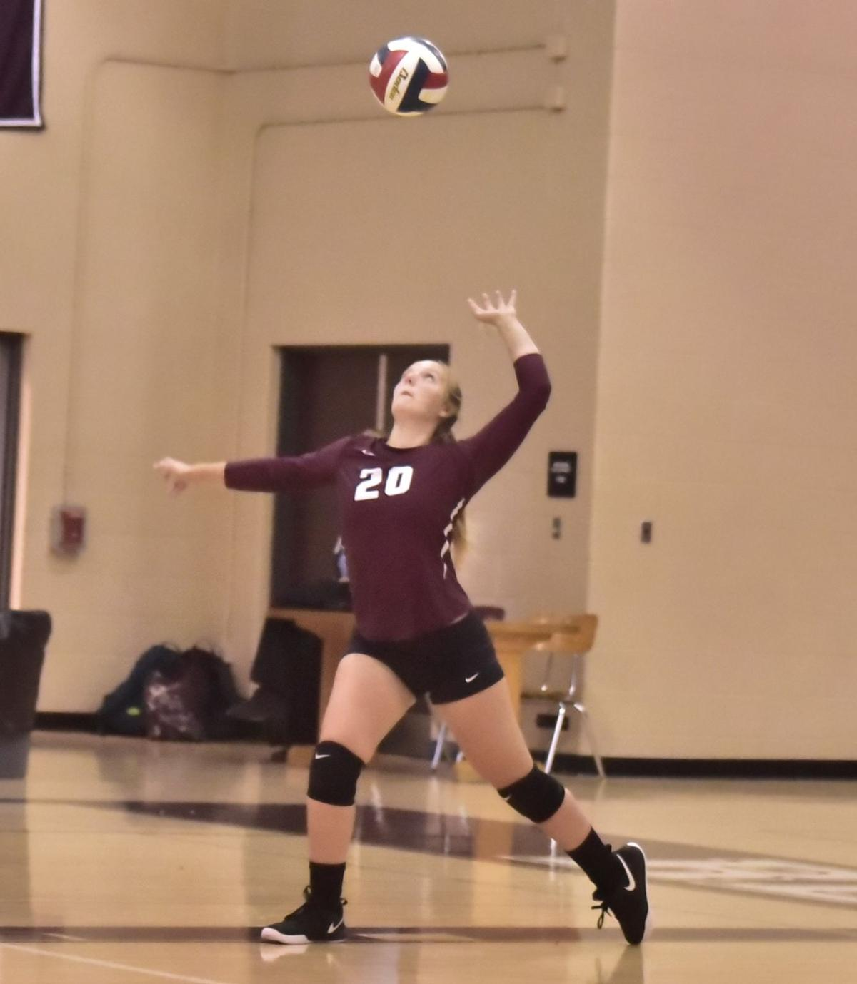 Hawk serves for Lady Red Raiders