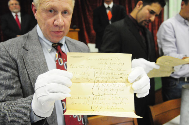 Carnegie Free Library opens 1901 time capsule