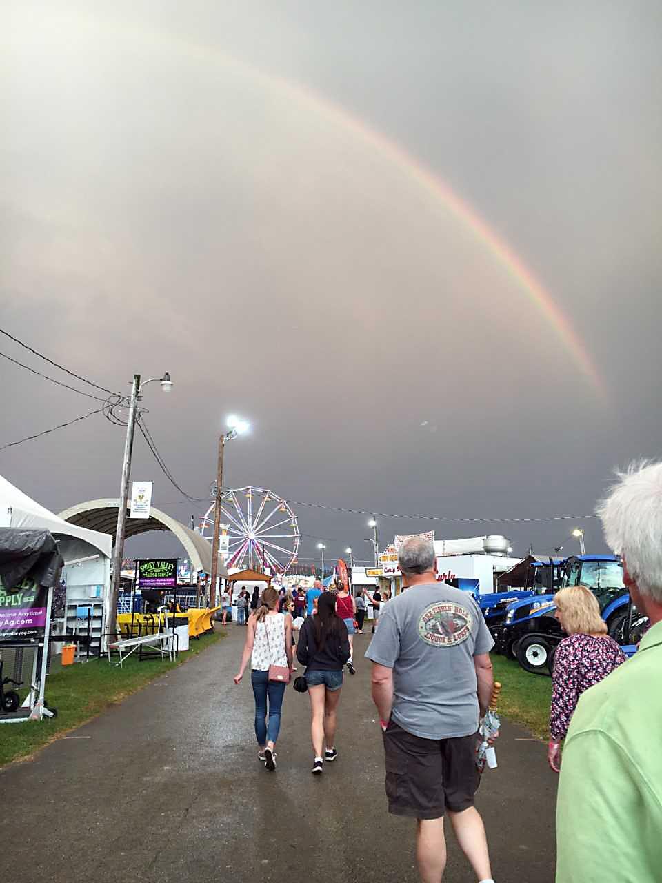 Rainbow brightens Fayette County Fair