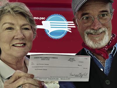 Chamber donates to Caboose Committee for next renovation stage