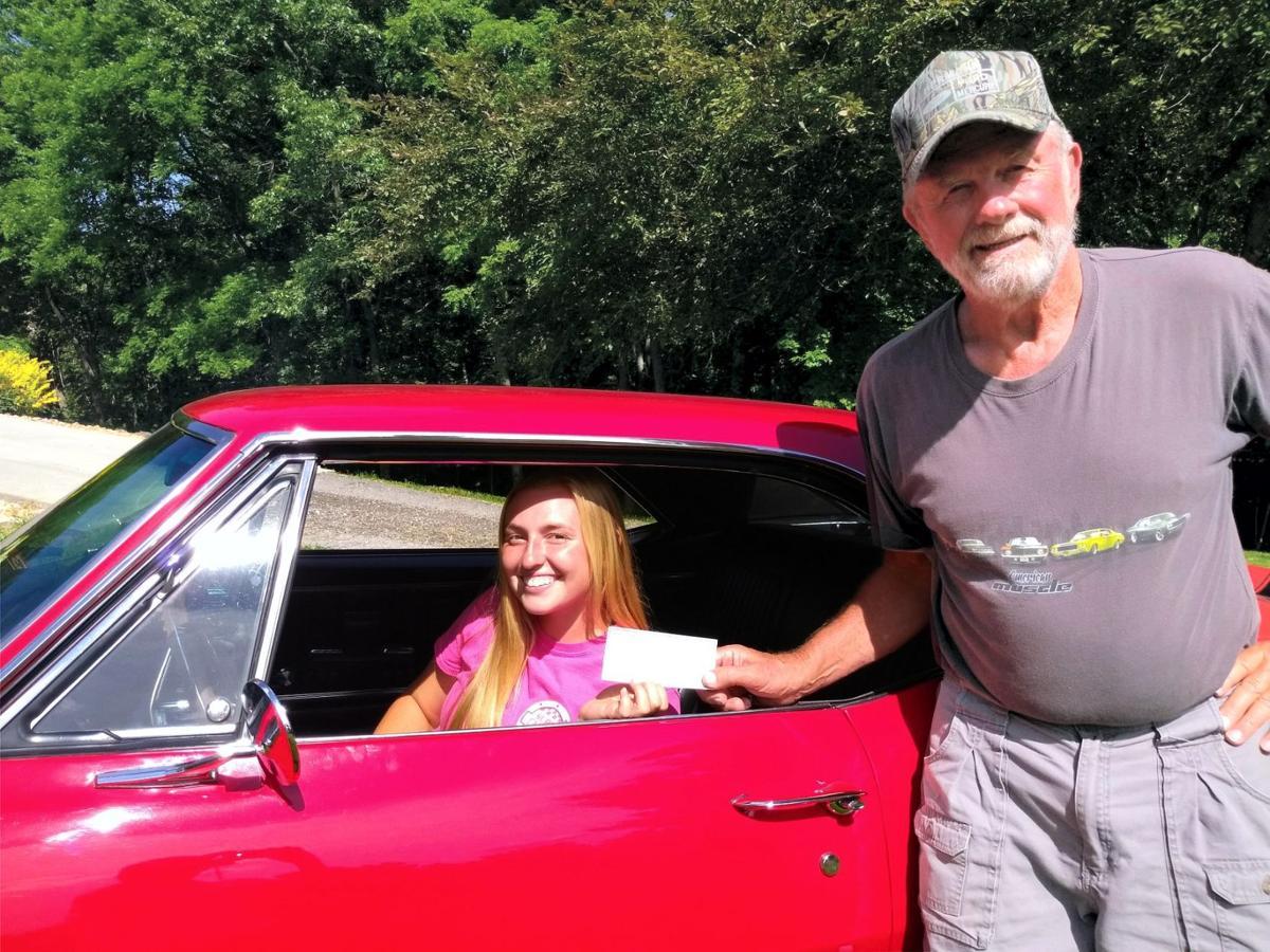 The River City Cruisers Car Club presented two $500  scholarships to graduating Hermann High School seniors