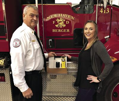 Firefighters receive new flashlights