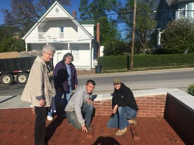 Bricks installed at Veterans Memorial Park