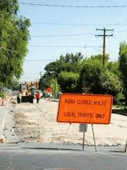 MOTORISTS FINDING NEW ROUTES AS CREWS WORK ON ROADWAYS