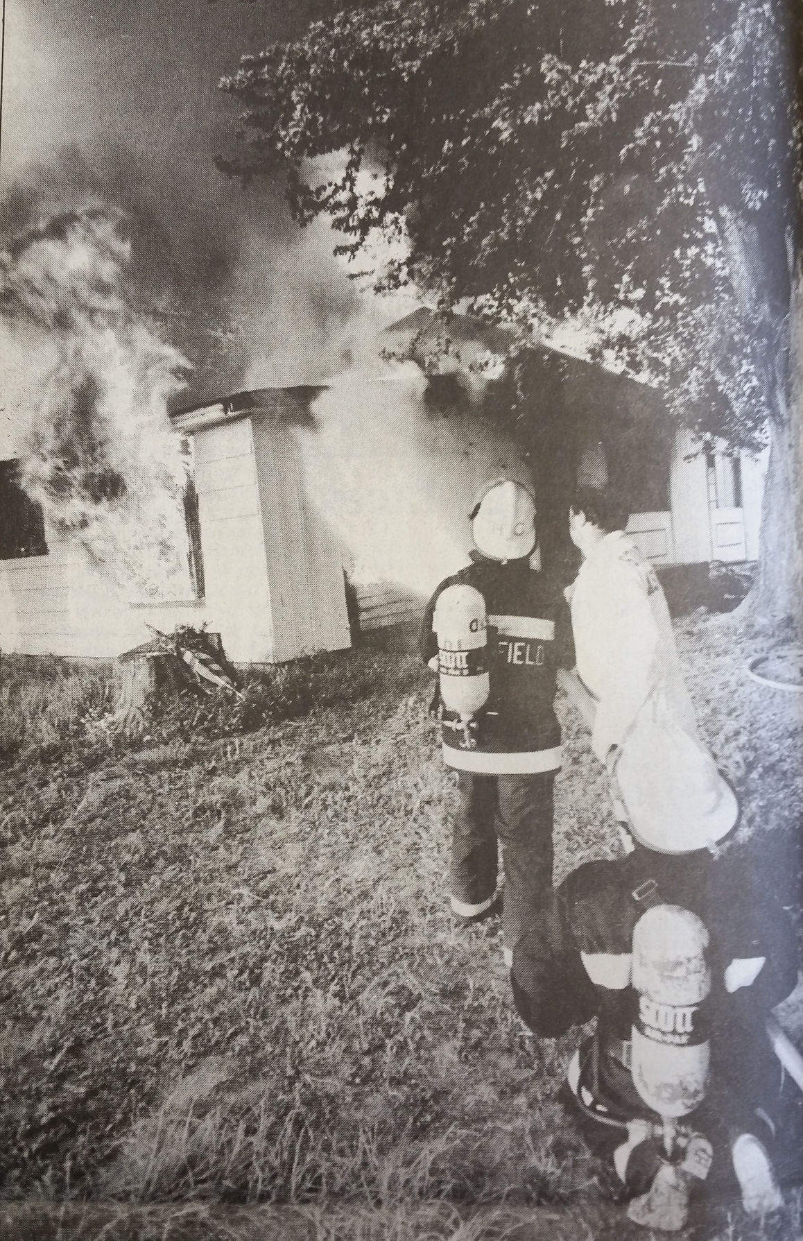 Firefighters learn by intentionally burning a home