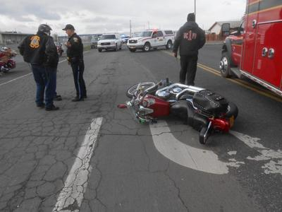 Motorcycle rider flown to hospital after crash