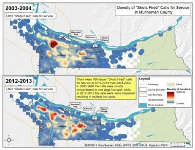 Study: Multnomah County Gang Incidents Moving East