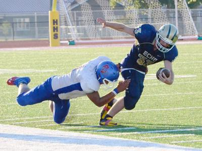 Powder Valley rolls over Echo Cougars, 60-22, at Kennison Field