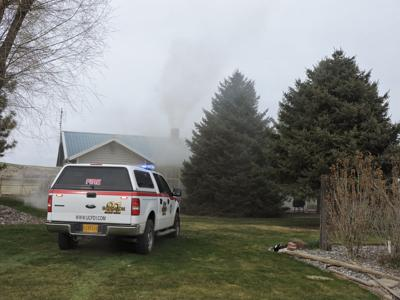 Farm house fire started in flue
