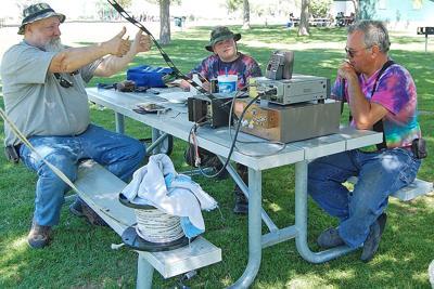 Ham radio operators hold on-air open house