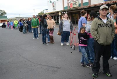 Food, product giveaway helps more than 500 people Sunday