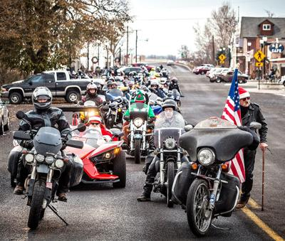Santa bikers deliver toys to hospital