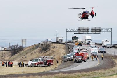 Church van crashes on Interstate 82