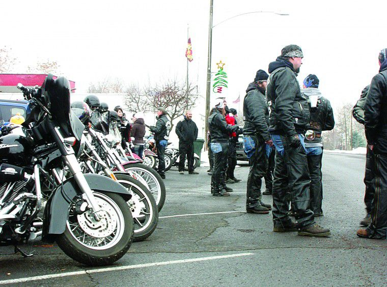 Leather-clad Santas deliver holiday gifts