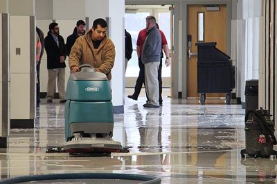 Water line break causes high school closure