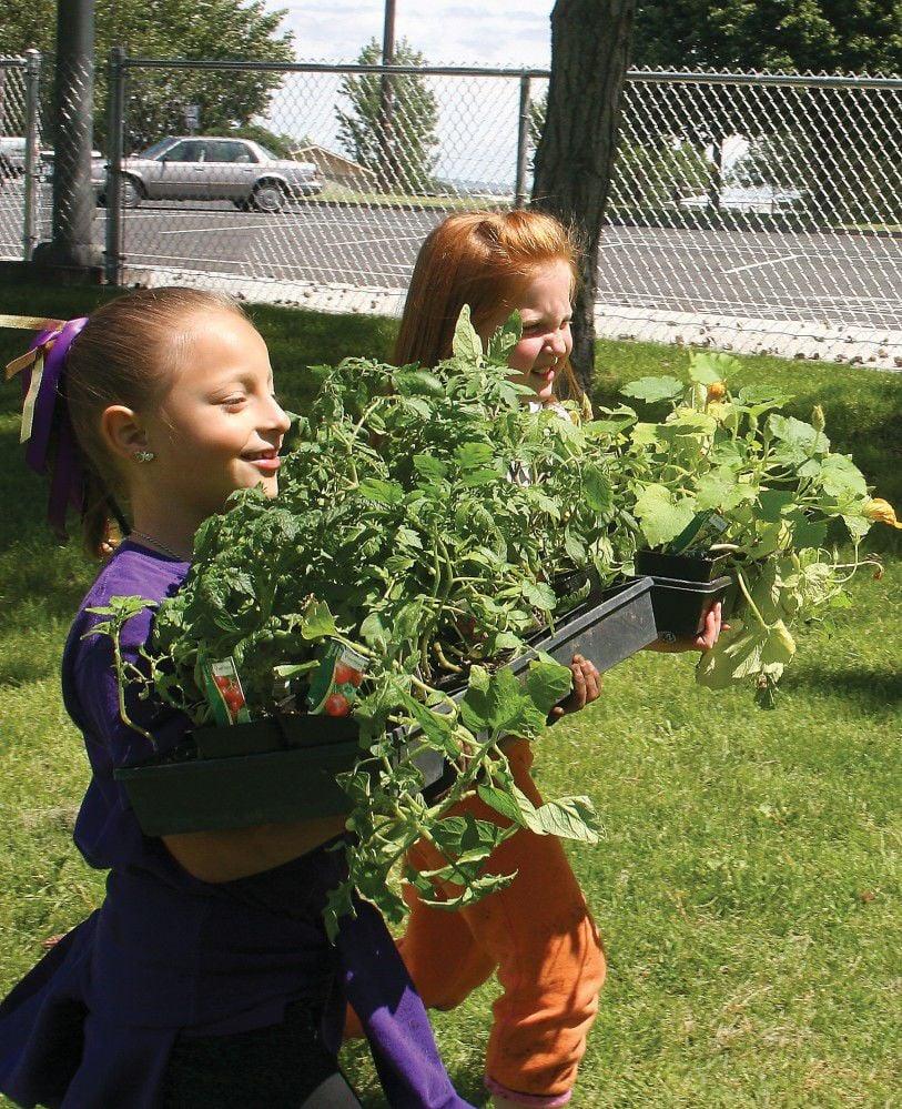Elementary garden party