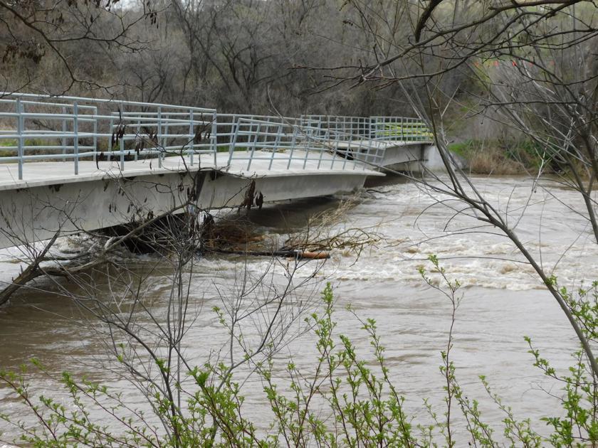 Flooding damages Umatilla bridge, other structures