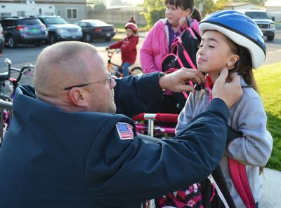 Students walk, bike to school to stay fit