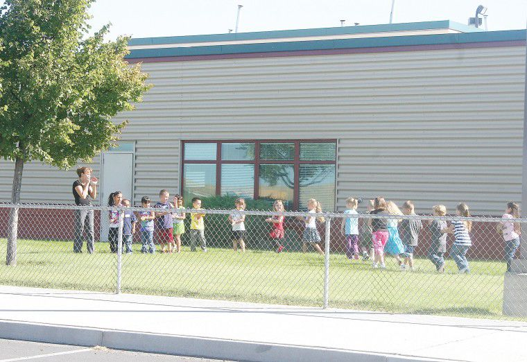 Stanfield sends students back to school; some in 'blended' grade classes