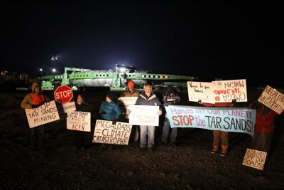 Protesters challenge megaloads