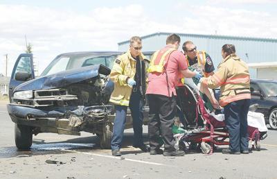 Two taken to hospital after Highway 395 crash