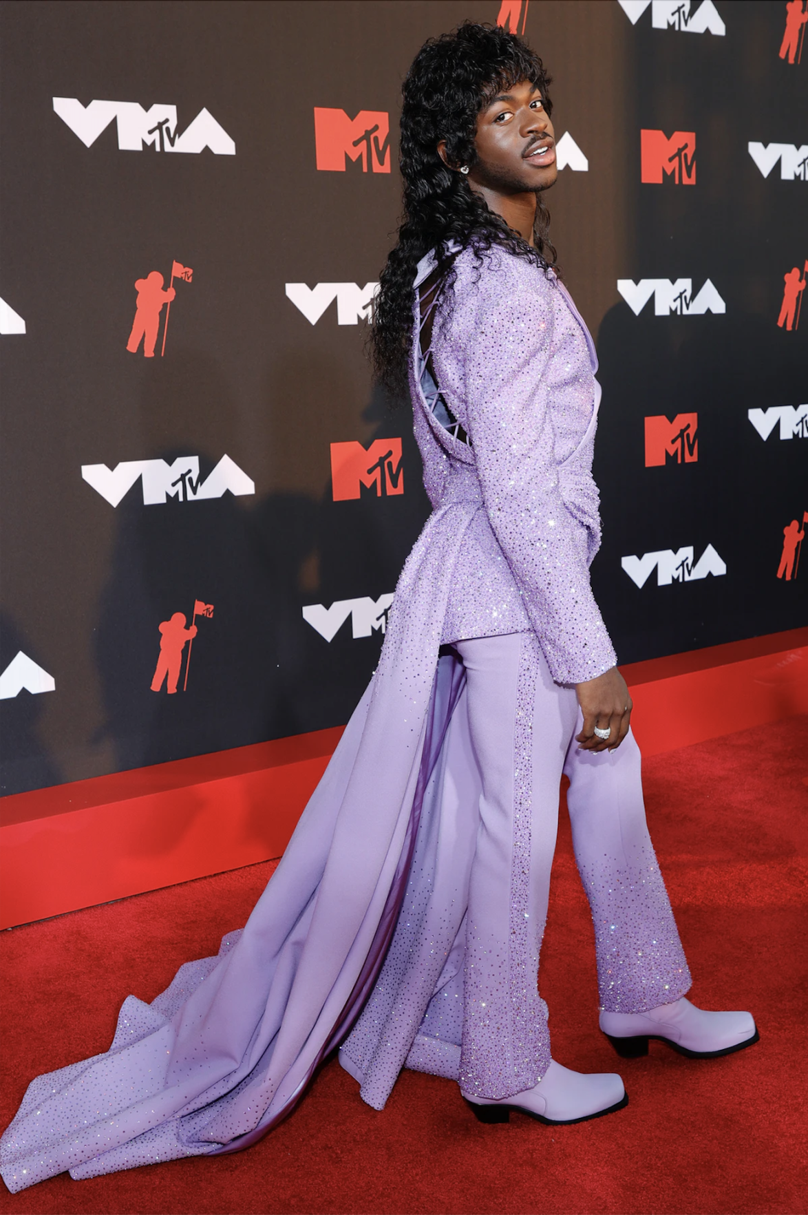 Lil Nas X VMA red carpet