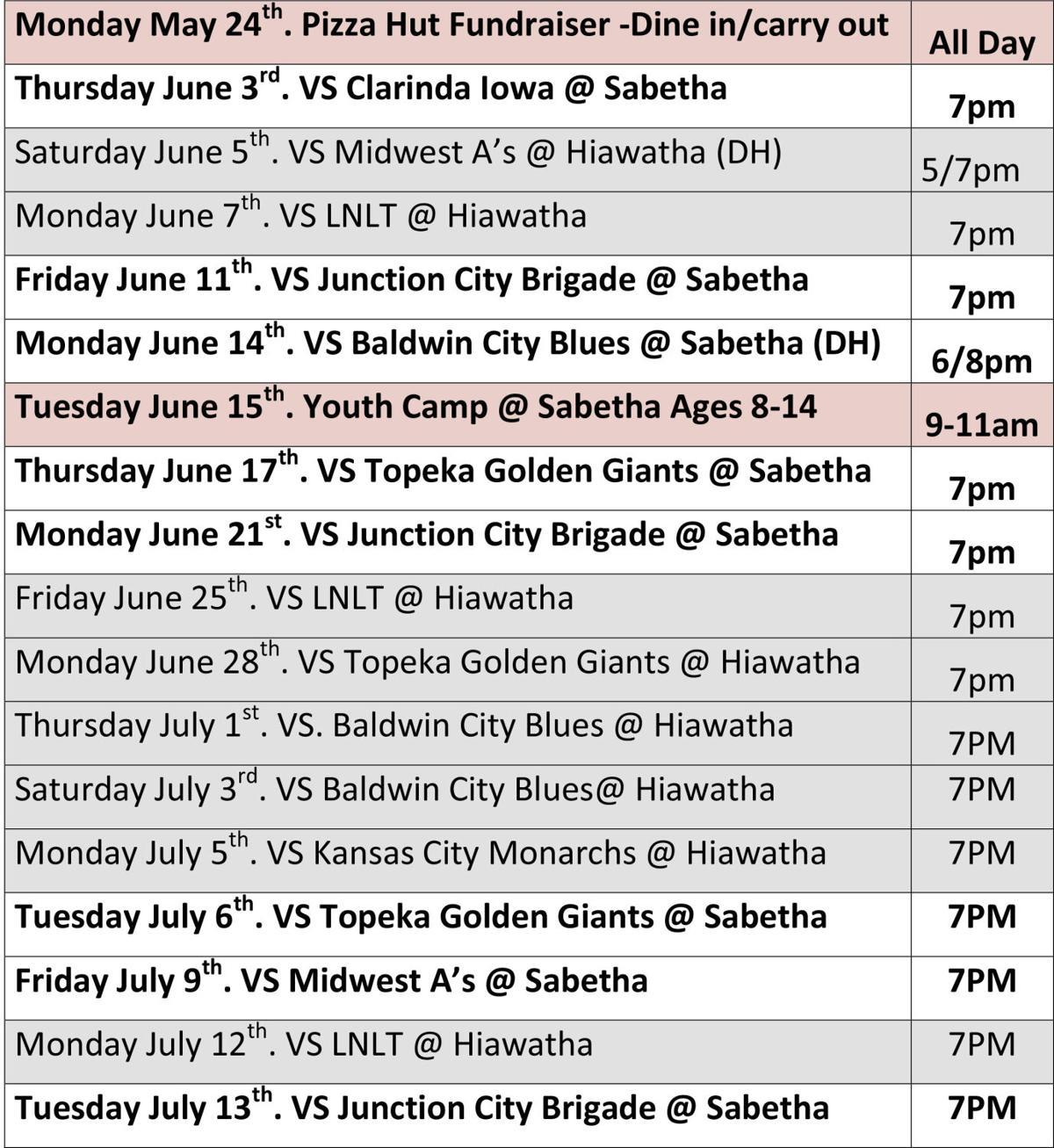 Bravos Schedule