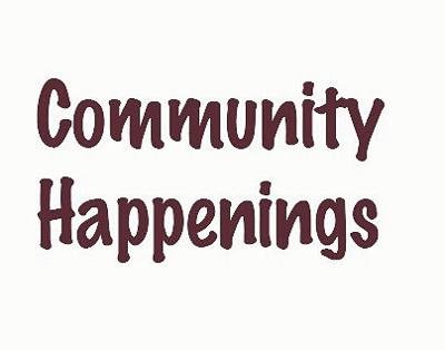 Community Happenings graphic