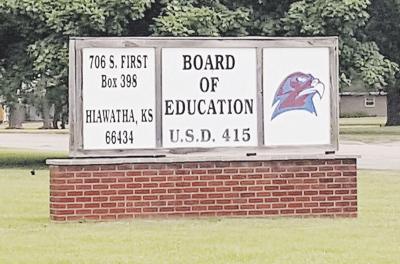 Hiawatha School Board graphic