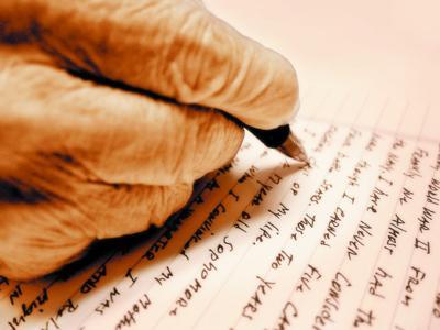 Letter writing stock
