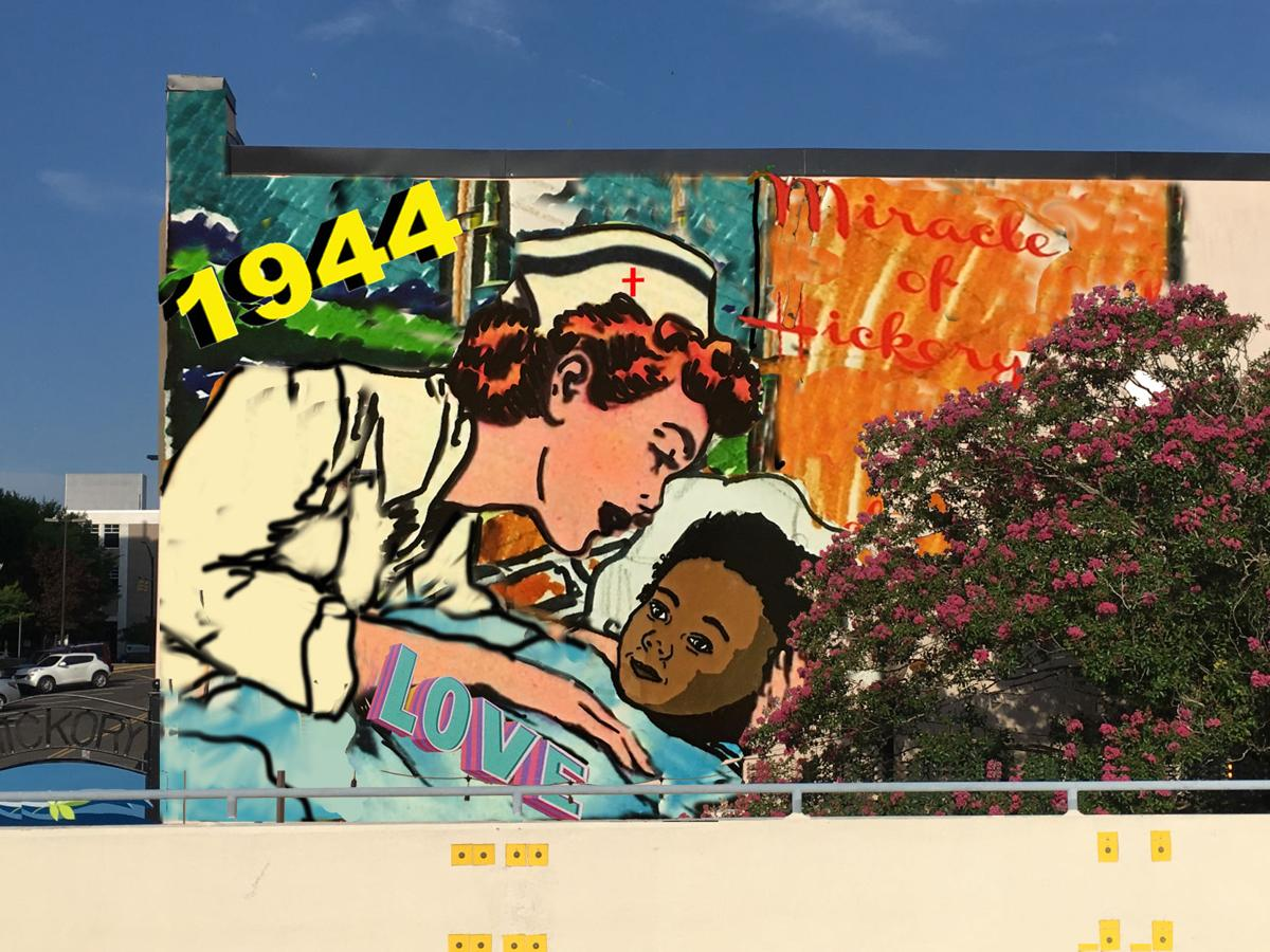 Miracle of Hickory mural finds a home