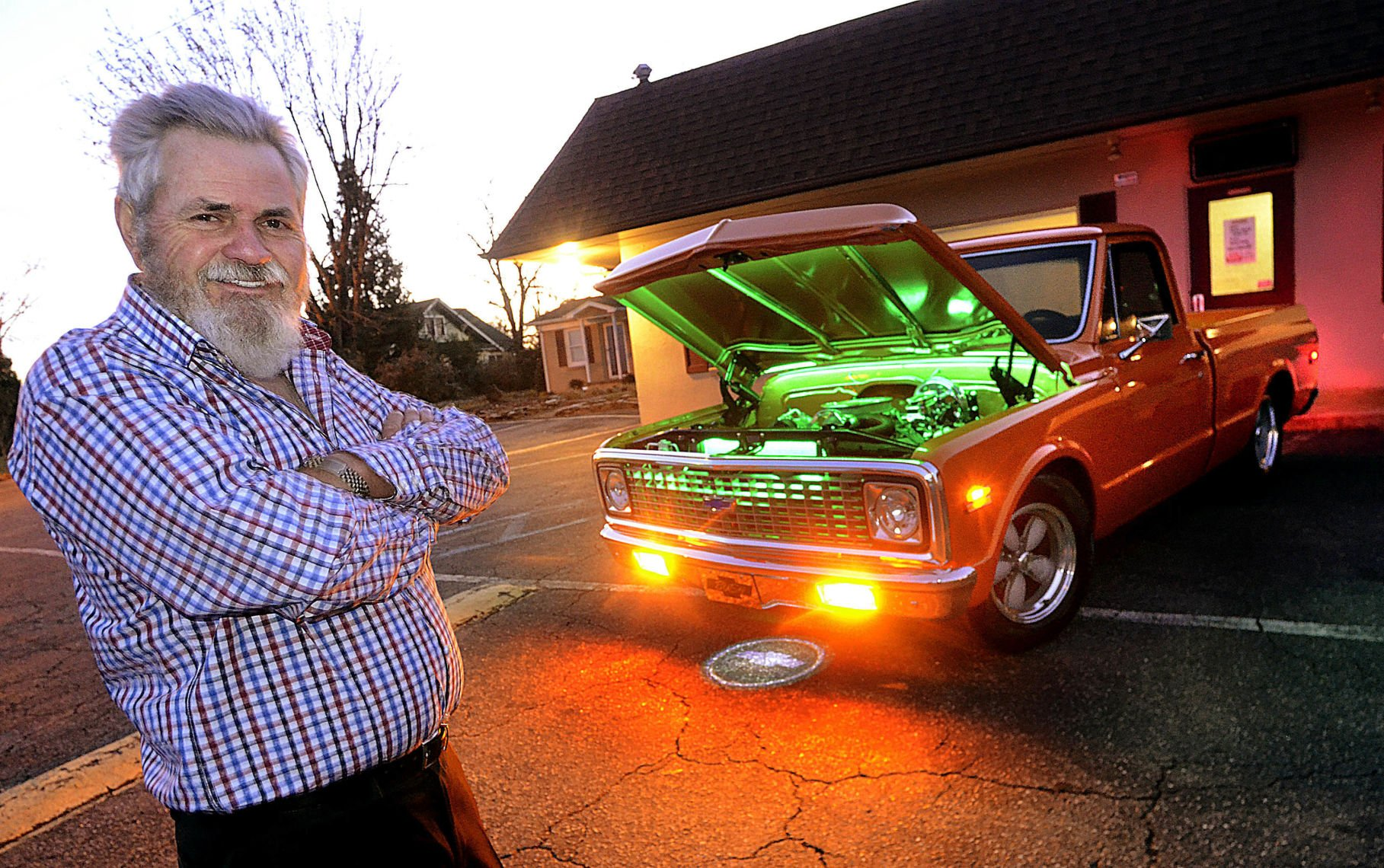 1971 chevy truck lights up the night vehicle features a train horn 1993 Chevy Truck 1971 chevy truck lights up the night vehicle features a train horn and 35 feet of led lights