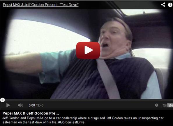 Jeff Gordon test drive video