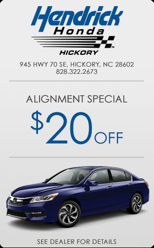 Hendrick Honda Alignment Special
