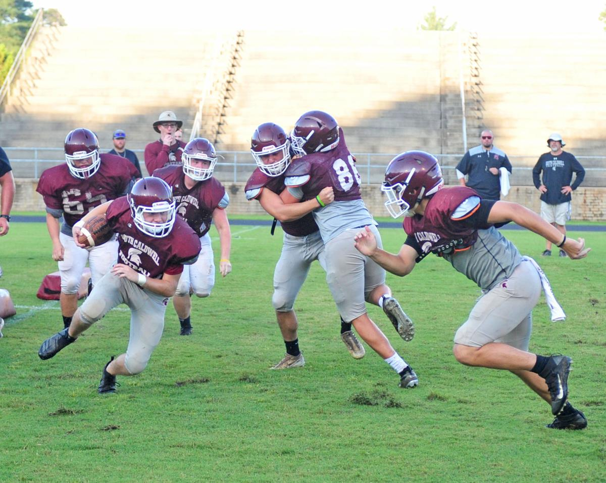 South Caldwell football practice