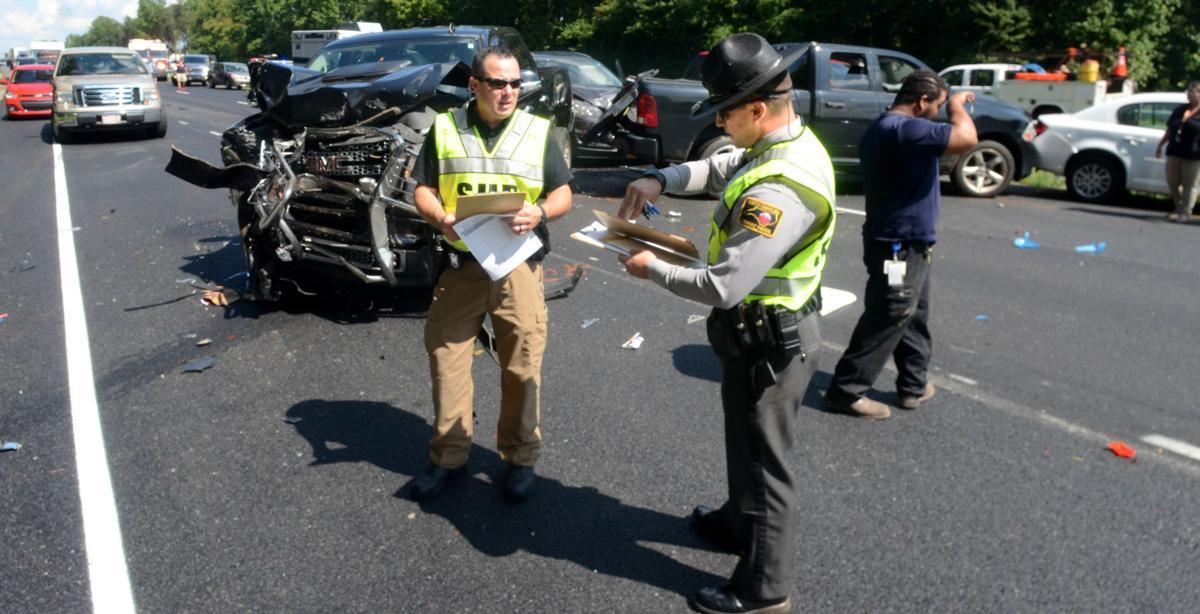 UPDATE: 7-car pileup slows traffic on I-40