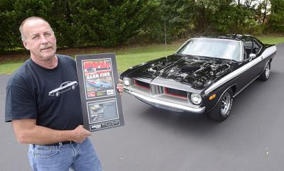 he bought a plymouth barracuda new in 1974 and after a restoration