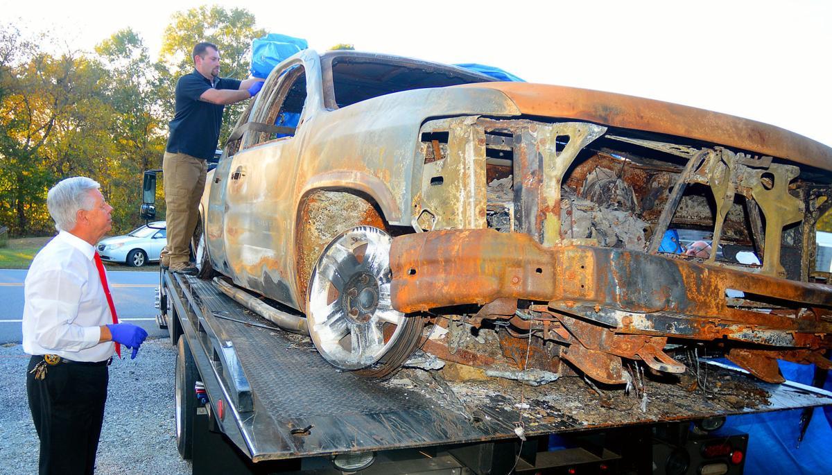 Burned truck returns from Virginia