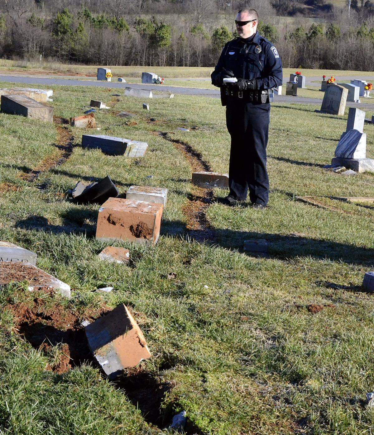 Maiden Municipal Cemetery vandalized
